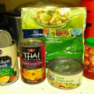 Quick Thai Coconut Ginger Chicken Soup