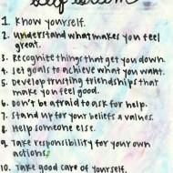 10 Steps To Self Esteem