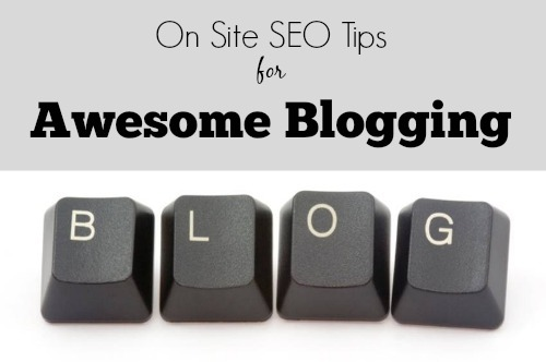 on site seo tips for blogging