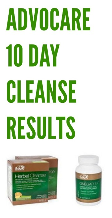 advocare 10 day cleanse results