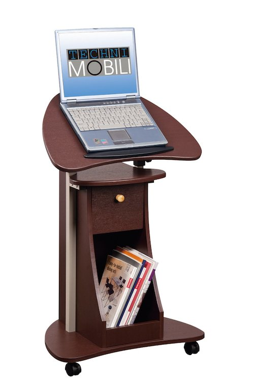 rolling cart laptop stand
