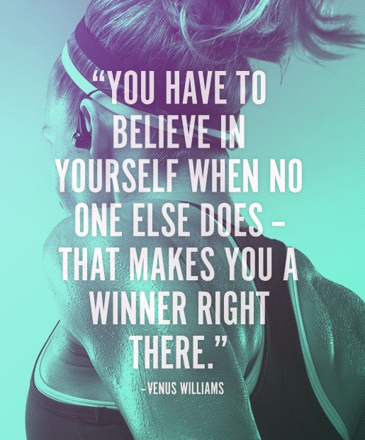 fitness motivation quote - believe in yourself