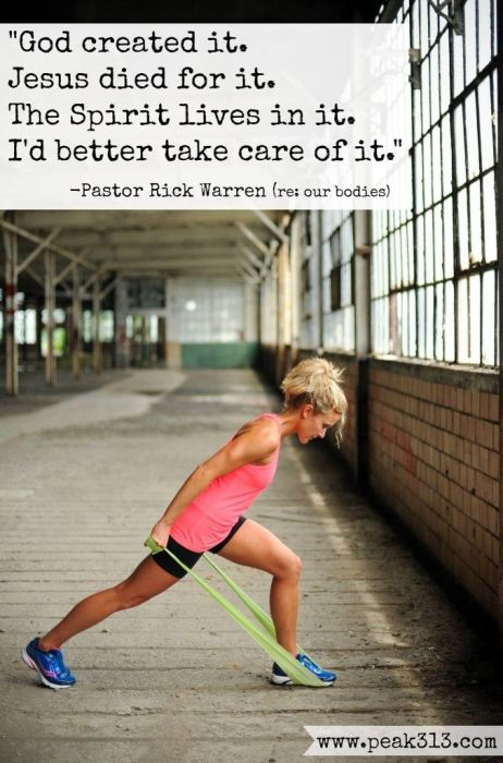 fitness motivation quote - christian motivation