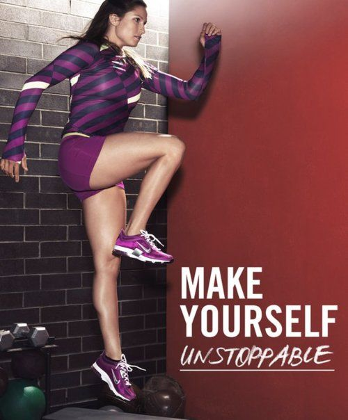 fitness motivation quote - make yourself unstoppable