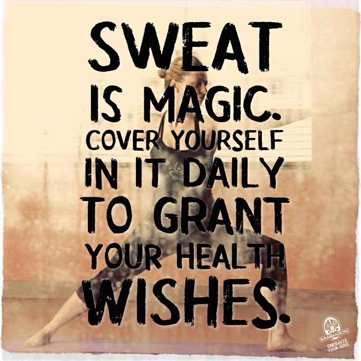 Fitness Motivation Quote Sweat Is Magic