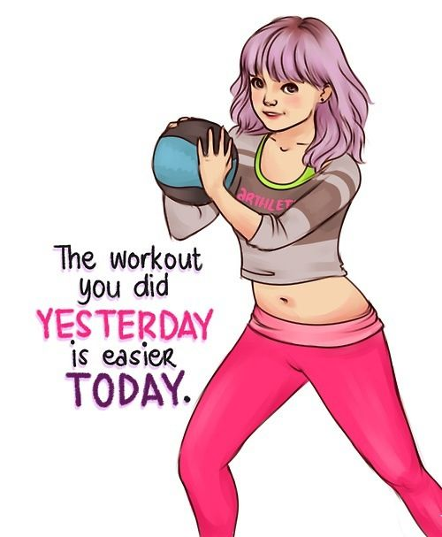 fitness motivation quote - workouts get easier