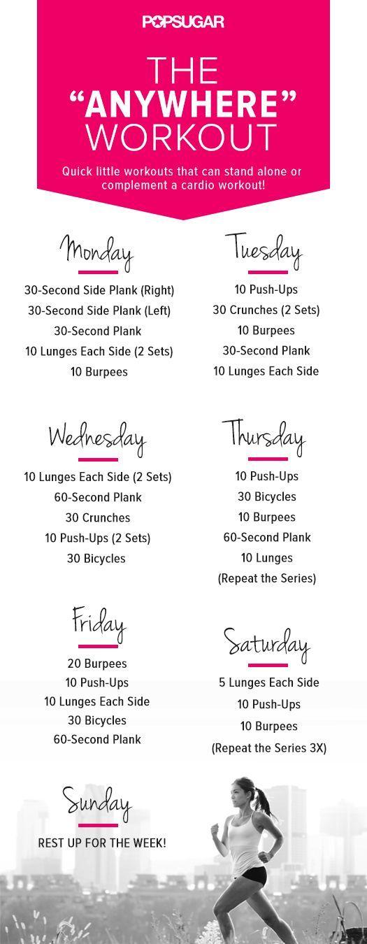 popsugar anywhere workout