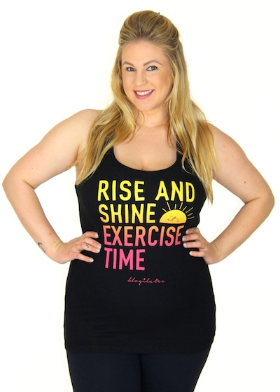fitness motivation clothes - rise and shine exercise time tank