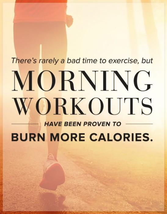 morning workouts burn more calories