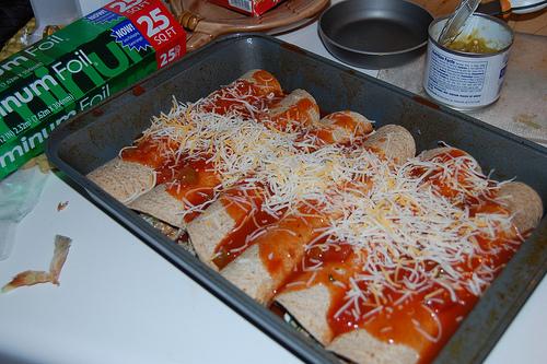 Spinach and Turkey Enchiladas