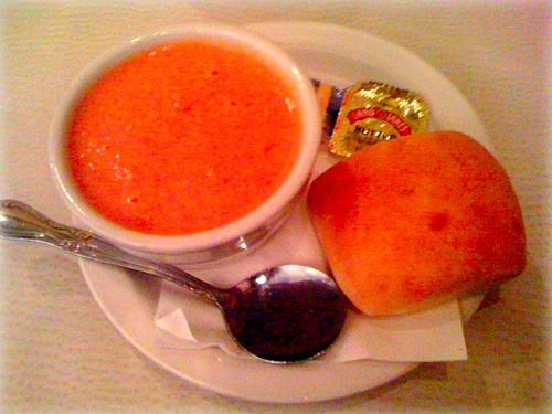 tomato blue cheese soup - memphis booksellers bistro