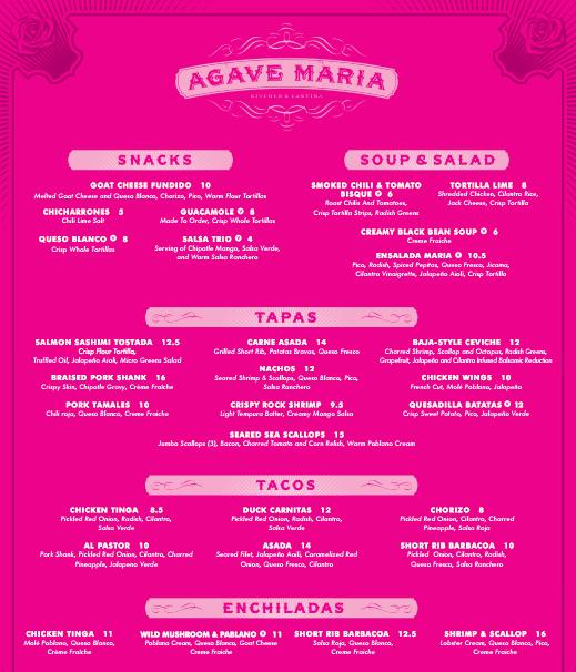 Agave Maria menu in Memphis