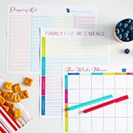 Weekly Dinner Meal Planning Reset