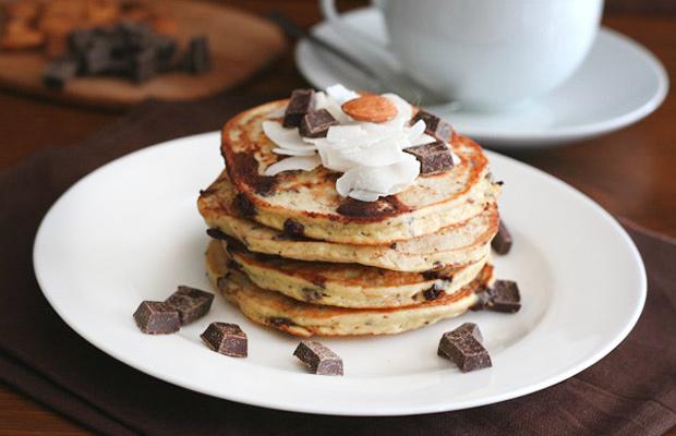 Almond-Joy-Protein pancakes