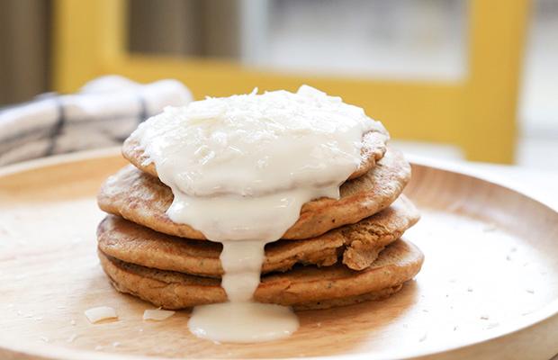 Vanilla-Coconut-Protein-Pancakes