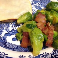 Steamed Brussel Sprouts & Crispy Bacon