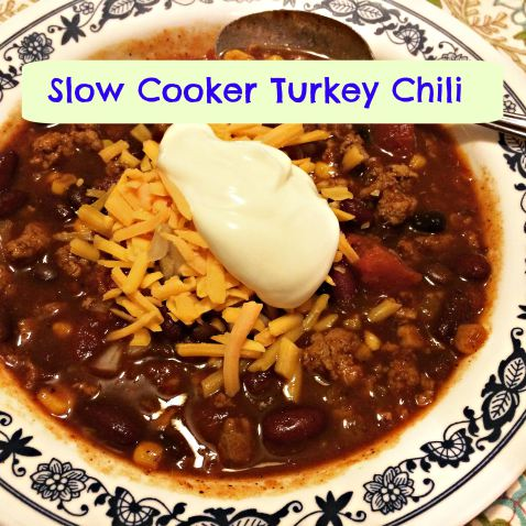 Easy Slow Cooker Turkey Chili by The Weekday Gourmet