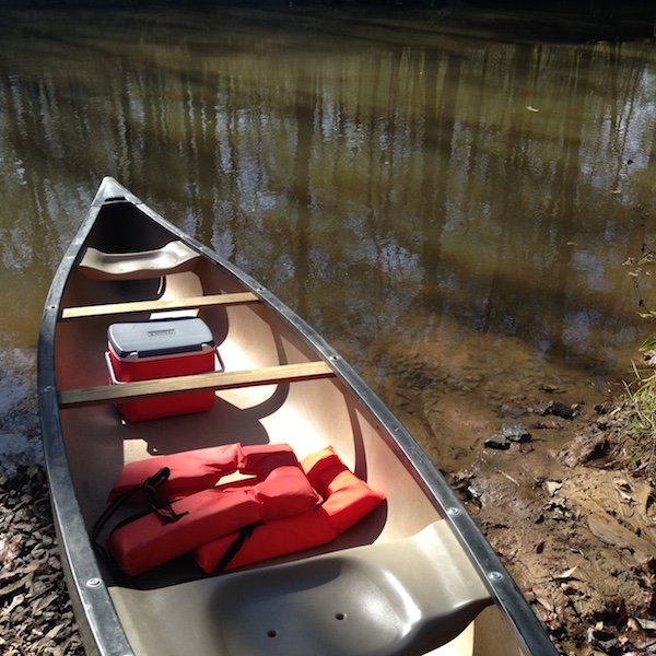 canoe on the wolf river