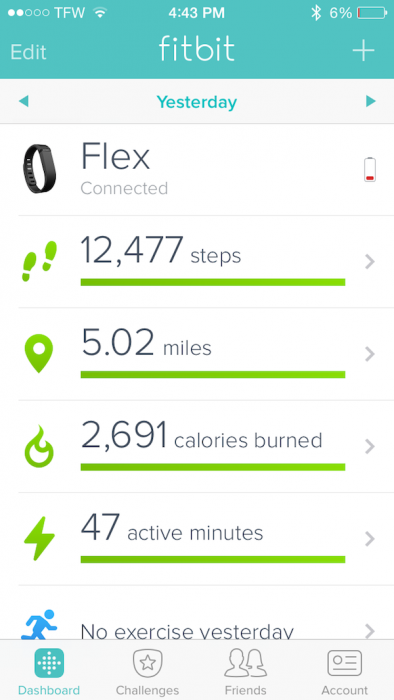 fitbit steps friday