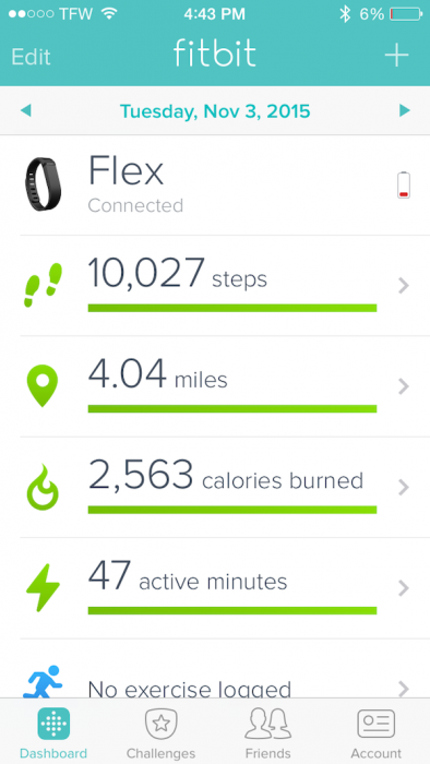 fitbit steps tuesday