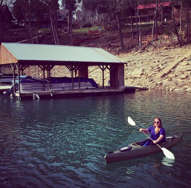 kayaking on lake norris