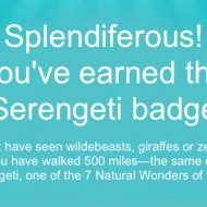 New Fitbit Badge: Serengeti (500 Miles)