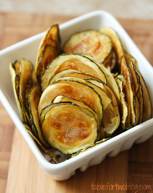 healthy advocare snack idea - zucchini chips by table for two blog