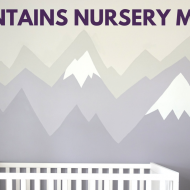 Our Mountain Nursery Mural