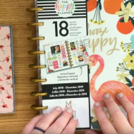 New 2018 Planners: Happy Planner & Dabney Lee Planner